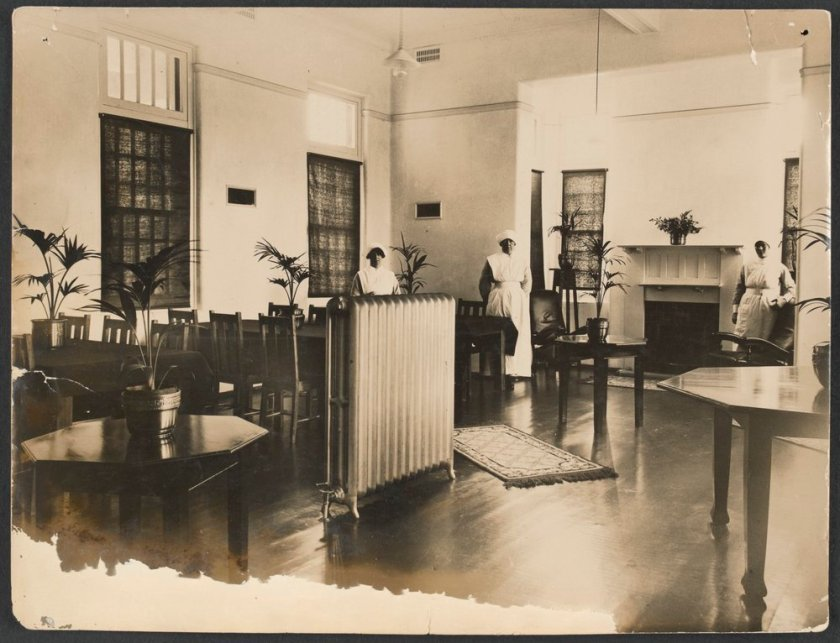 Mont Park Interior. Circa 1917. Image from SLV digital collection